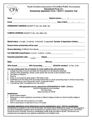 15 Printable Free Scholarship Application Templates Forms Fillable Sles In Pdf Word To Scholarship Application Template