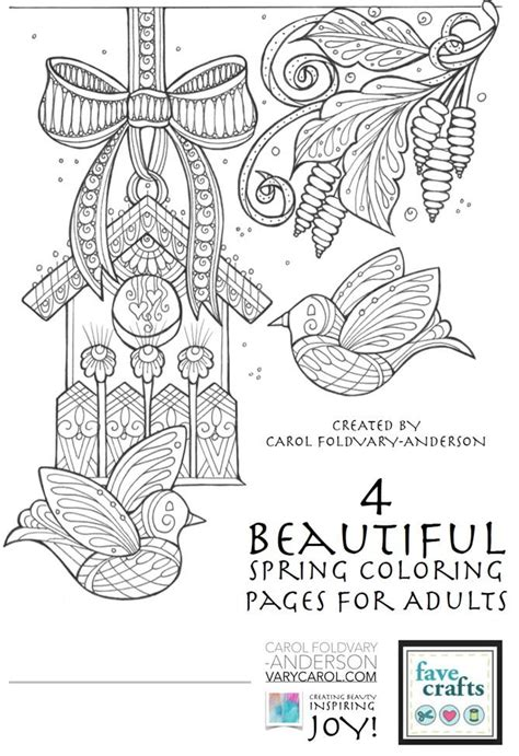 beautiful spring coloring pages  adults favecraftscom