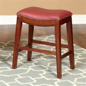 Leather Saddle Seat Bar Stools 30 Quot Faux Leather Nailhead Saddle Style Bar Counter Stools