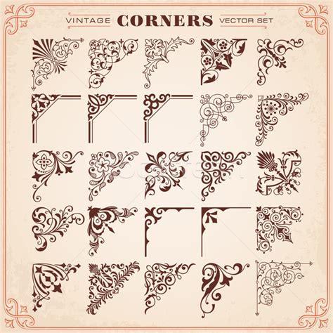 antique design elements 30 vector vintage design elements corners and borders vector