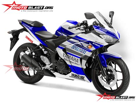 Speaker Moge Versi New modif striping yamaha r25 asian racing new motoblast