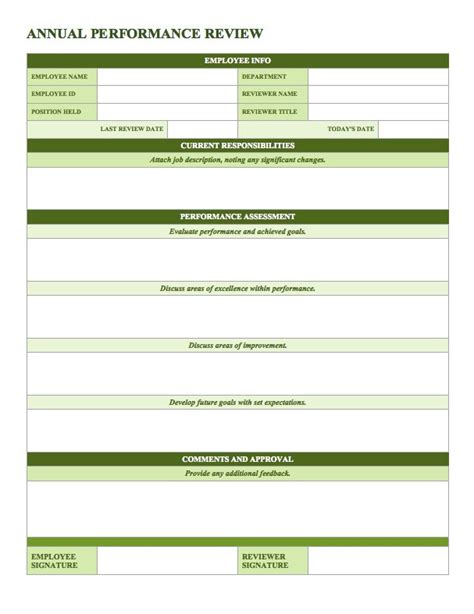 Free Employee Performance Review Templates Smartsheet It Performance Review Template