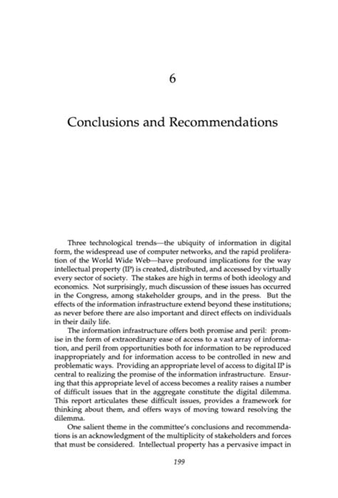 Exle Of Recommendation Letter In Research Paper Conclusions And Recommendations Exle
