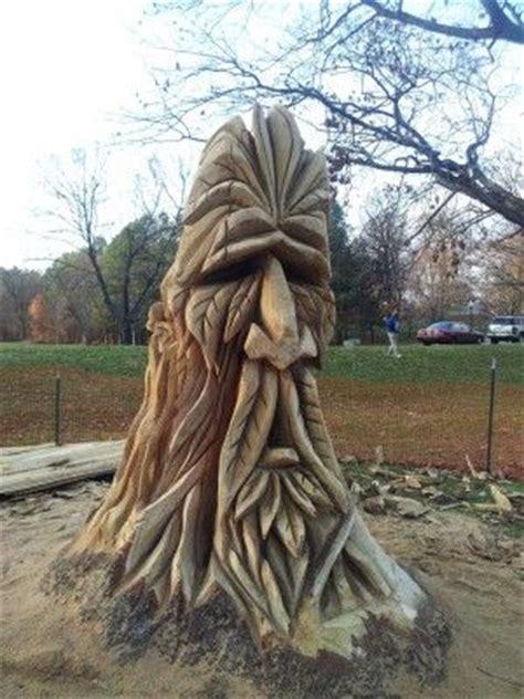 man tree stump tree carving tree art wood carving art