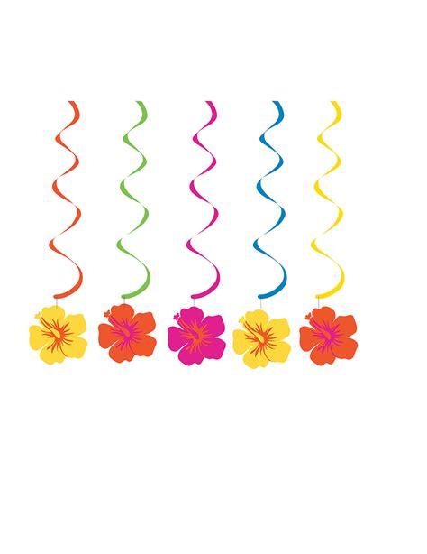 fiori hawaiani 5 decorazioni a spirale da appendere fiori hawaiani