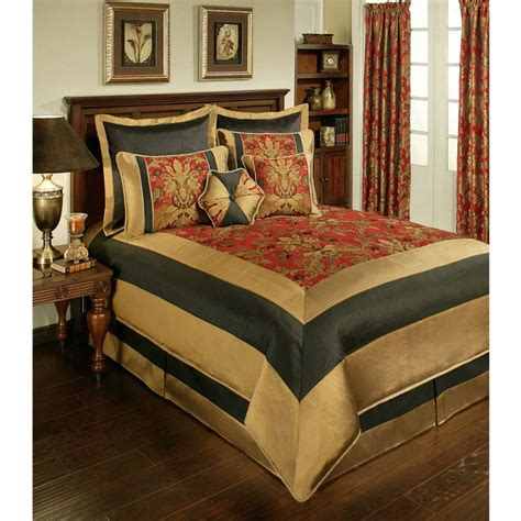 8 piece comforter set sherry kline milano red 8 piece comforter set bedding