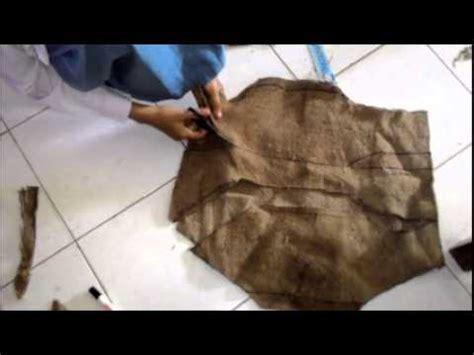 Baju Karung Bulog membuat tas dari karung beras persiapan mos