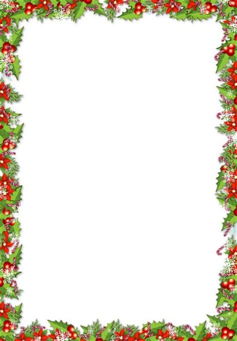 printable christmas paper frames christmas png frame with mistletoes free frames to use