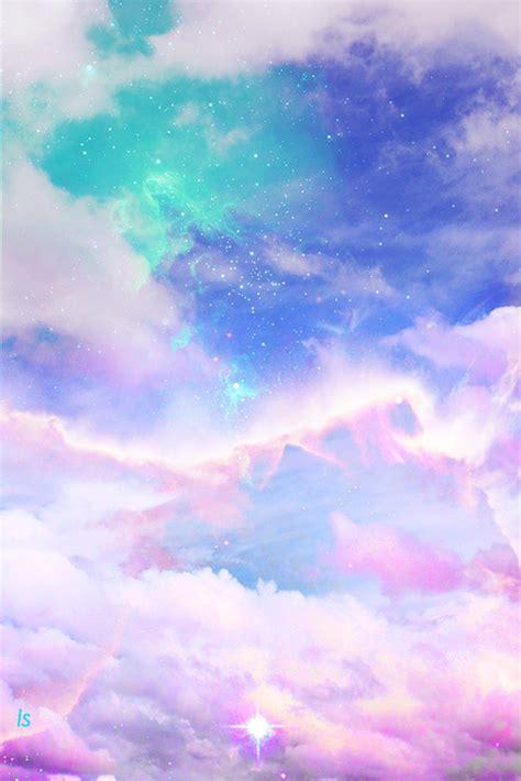 galaxy wallpaper kawaii art cute kawaii sky design space galaxy pink clouds pastel