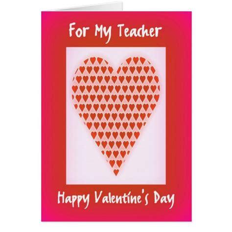 valentines cards for teachers card for teachers zazzle