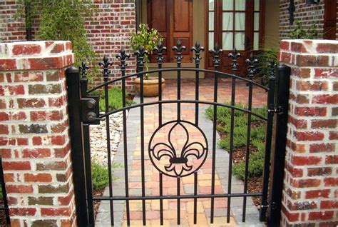 Decorative Gates by Decorative Residential Wrought Iron Gates Milton Fence