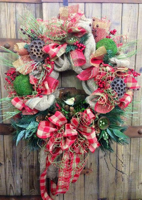 old fashioned wreath ideas rustic burlap wreath on etsy 95 00 rustic