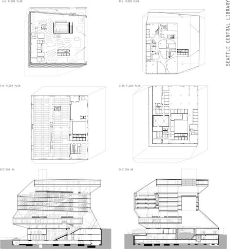 seattle public library floor plans pichy pichayut sirawongprasert case definition drawings