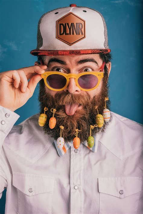 you can now decorate your hipster beard for christmas now you can decorate your bead for easter veriy