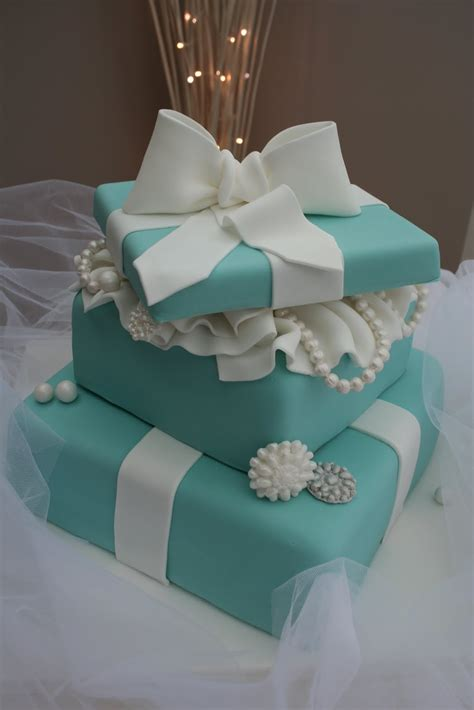 Katies Cupcakes  Tiered Tiffany Cake