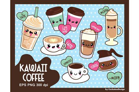 kawaii clipart kawaii coffee illustrations creative market