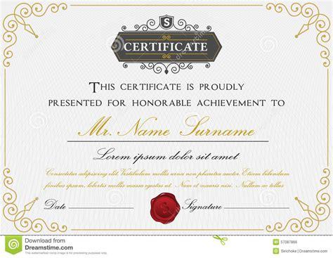 premium certificate template design stock vector image