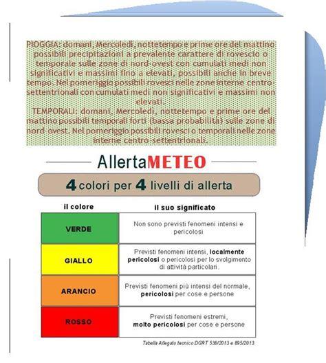 Meteo A Bagni Di Lucca by Allerta Meteo Di Livello Giallo Per I Comuni Di Bagni Di