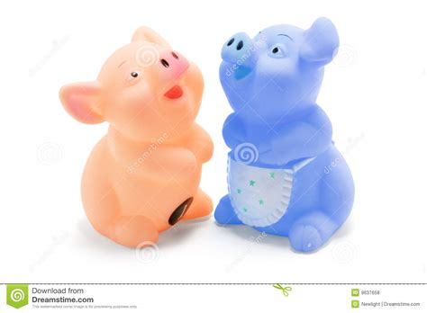 pig rubber st rubber piggies royalty free stock photos image 9637658