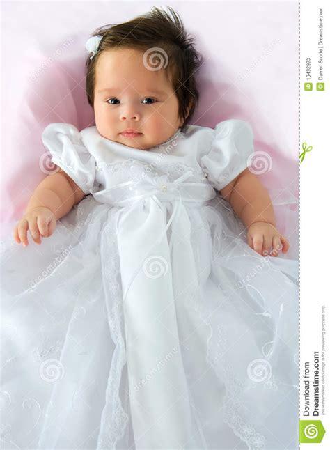 baby girl  baptism dress stock image image  young