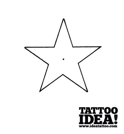 5 point star tattoo 5 point drawing at getdrawings free for
