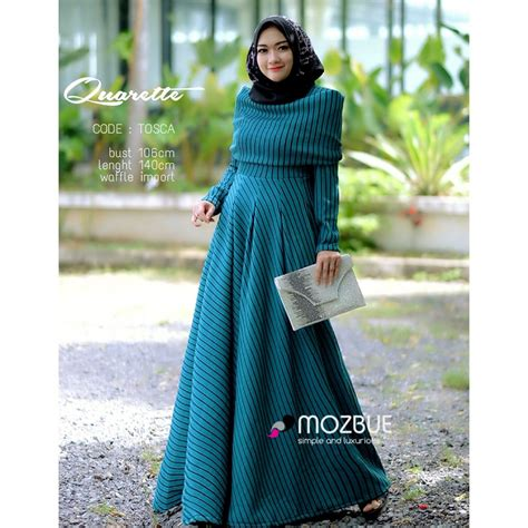 New Arrival Gamis Azzahra Syar39i By Dna Clothing Indonesia quarette by mozbue distributor gamis branded original murah