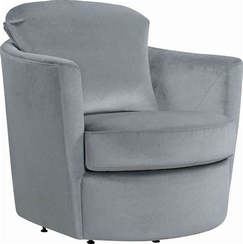 Gray Swivel Chair - gray swivel accent chair from coaster coleman furniture