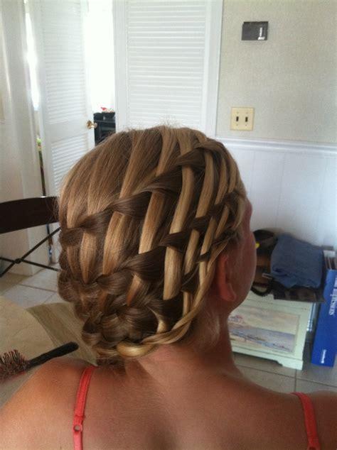 images of basket weave twist updo for black women flirty side bun hat sleek basket weave braid style