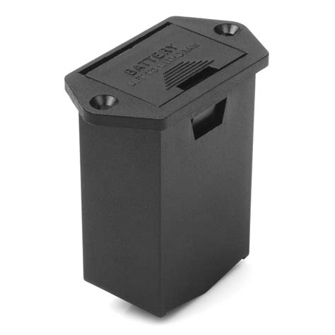 Battery Drawer battery holder 9v drawer panel mount prt 11368 sparkfun electronics