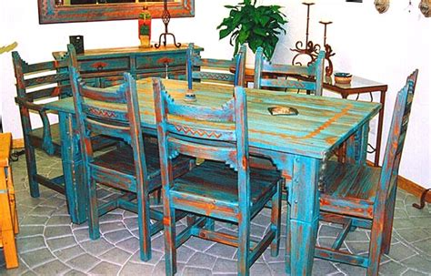 dining table southwest style dining table and chairs