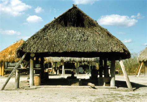 Chiki Hut Florida Memory Seminole Indian Chickee Hut At The Dania