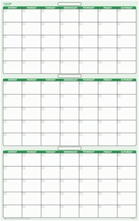 3 day calendar template 90 day 3 month erasable wall calendar 24 quot x 38 quot