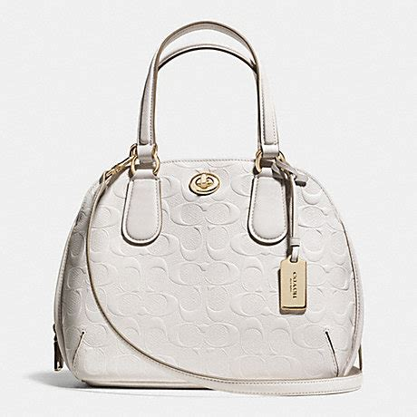 Coach Mini Signature Chalk 1 prince mini satchel in signature embossed leather f35452 light gold chalk coach