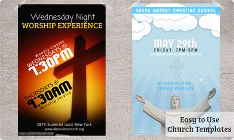 church flyers templates prints amp downloads postermywall