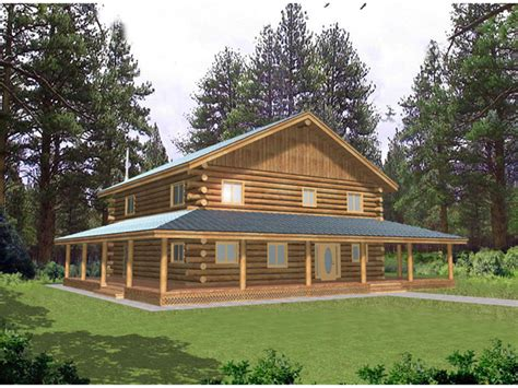 springston country log home plan 088d 0041 house plans