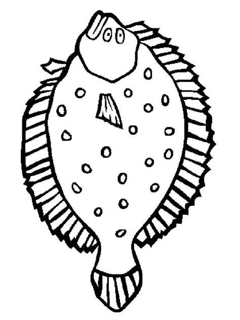coloring pages of saltwater fish flounder fish coloring pages download and print flounder