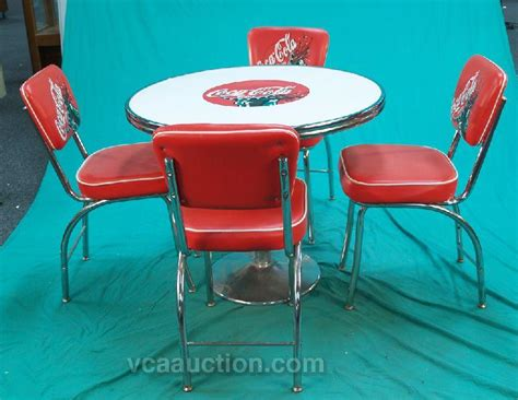 Coca Cola Table And Chairs by Coca Cola 50 S Diner Style Table 4 Chairs