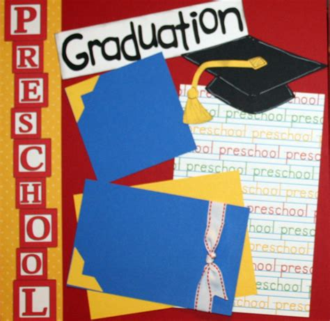 scrapbook layout graduation graduation scrapbooking preschool graduation premade