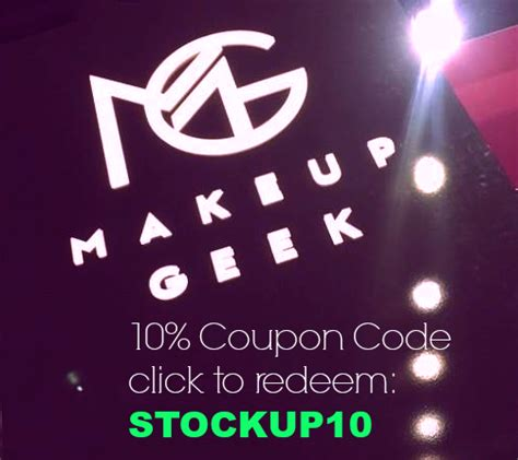coupons makeup geek