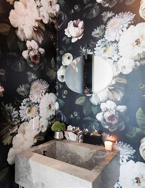 Bathroom Sink Backsplash Ideas whimsical powder room design ideas