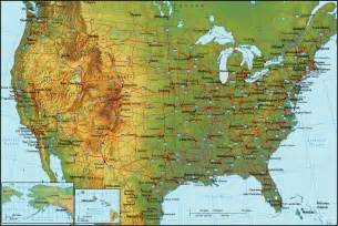 Physical Map Of Usa by Online Maps October 2011