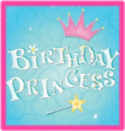 Happy Birthday Wishes Princess Birthday Princess Pink Blue Background Happy Birthday