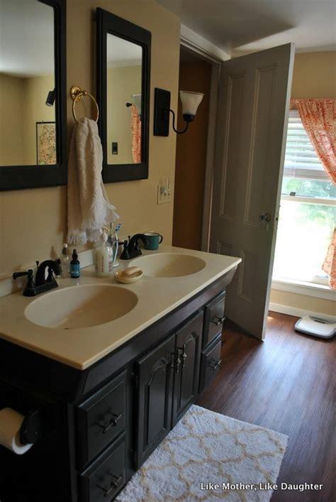 Almond bathroom fixtures: a make do bathroom makeover