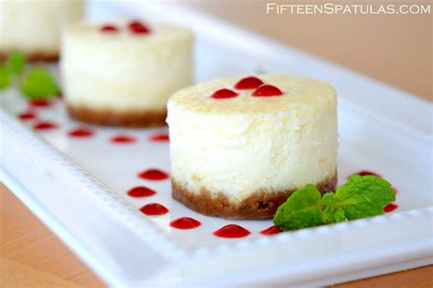mini cheesecakes with gingersnap crust and raspberry sauce fifteen spatulas