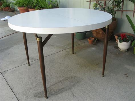 walter of wabash dining room table mid century modern walter of wabash white laminate dining