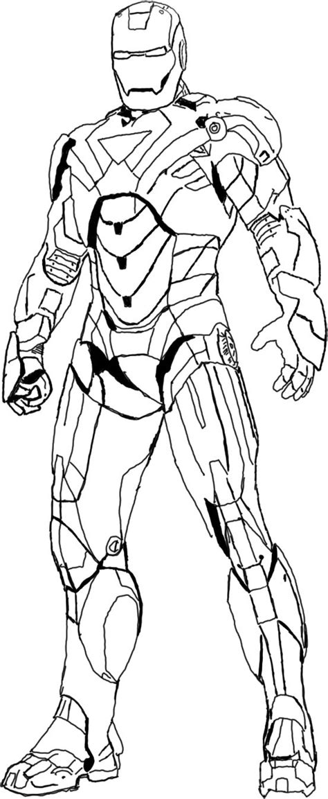Heroes Iron Man Coloring Pages Kid Activities Iron Black And White Coloring Pages