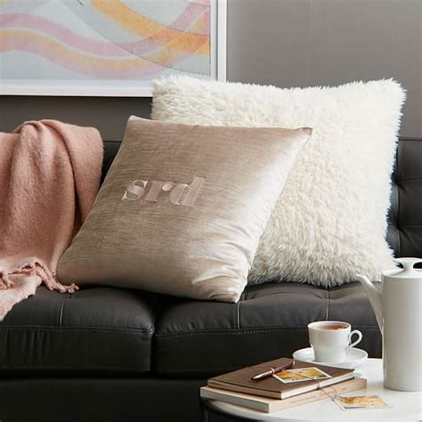 Faux Sheepskin Pillow Cover by Faux Fur Sheepskin Pillow Cover West Elm