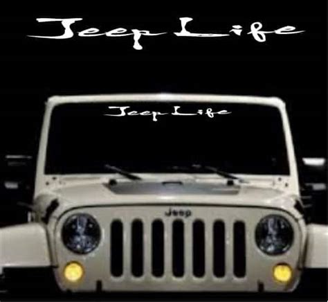 jeep windshield stickers jeep windshield decal sticker custom sticker shop