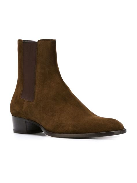 St Boots laurent wyatt ankle boots in brown for lyst