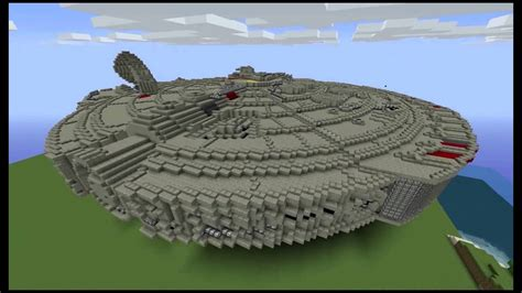 minecraft star wars millennium falcon creation youtube